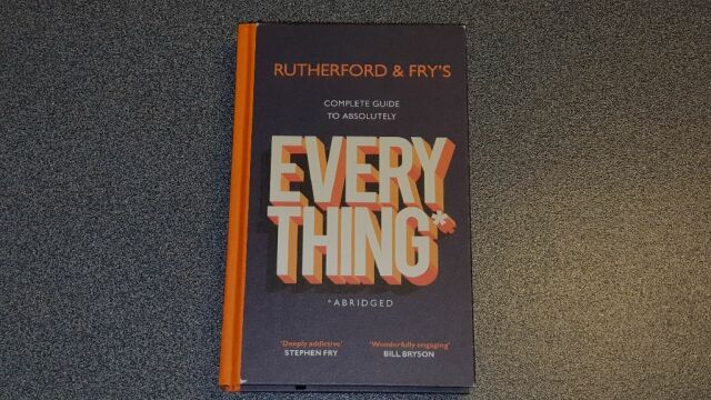 Photo of the book cover, with of course the title, but the word 'everything' shown very prominently